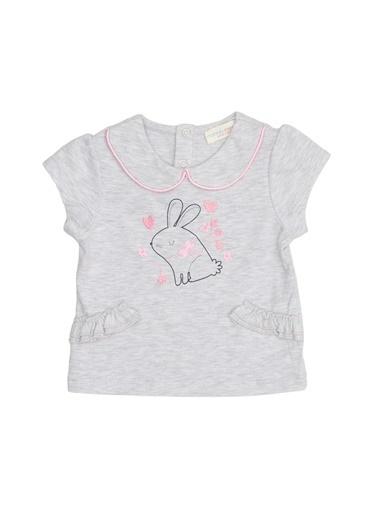 Mammaramma Mammaramma Gri Kız Bebek T-Shirt Gri